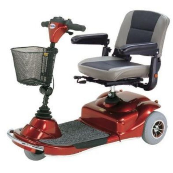 Merits Health S235 Pioneer 3 Wheel Mobility Scooter Red Side View