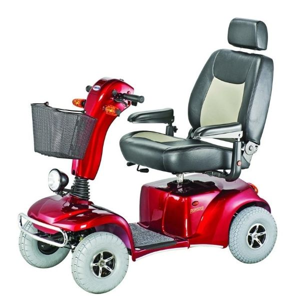 Merits Health S341 Pioneer 10 Bariatric 4 Wheel Scooter Side View