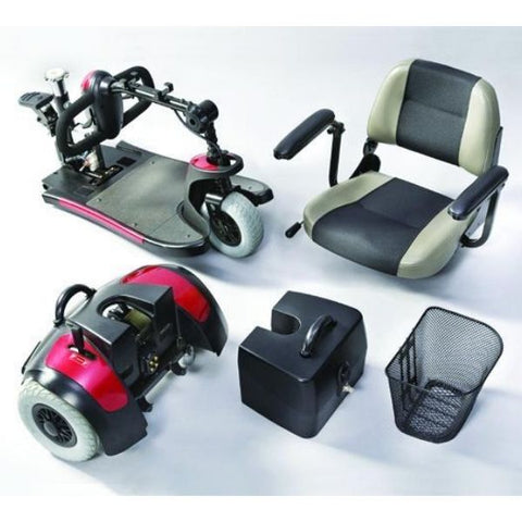 Merits Health S539 Mini-Coupe 3 Wheel Travel Scooter Disassembled