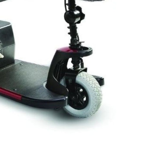 Merits Health S539 Mini-Coupe 3 Wheel Travel Scooter Front Wheel View