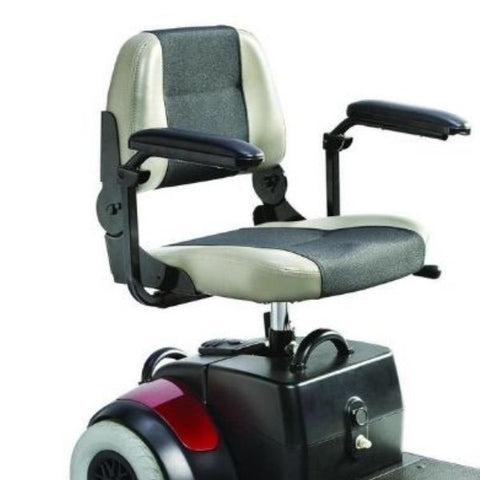 Merits Health S539 Mini-Coupe 3 Wheel Travel Scooter Seat View