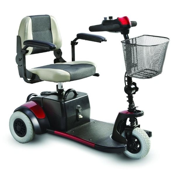 Merits Health S539 Mini-Coupe 3 Wheel Travel Scooter Side View