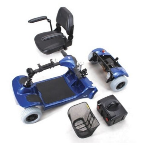 Merits Health S549 Mini-Coupe 4 Wheel Scooter Disassembled View
