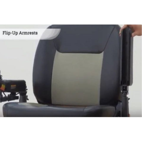 Merits P710 Atlantis Heavy Duty Electric Power Wheelchair Flip Up Armrests