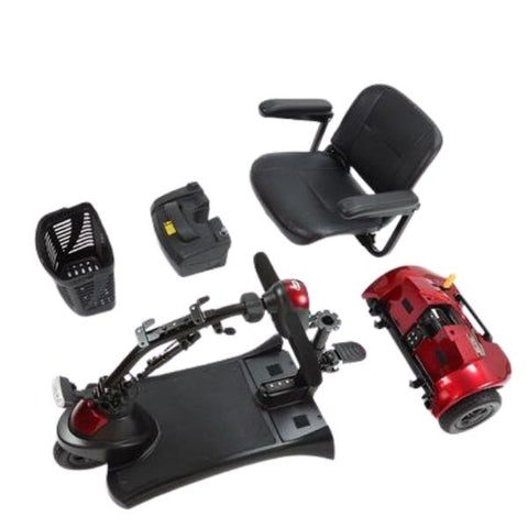 Merits S731 Roadster 3-Wheel Mobility Travel Scooter Disassembled Pieces