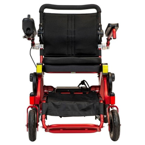 Pathway Mobility Geo Cruiser Elite EX Folding Power Wheelchair Red Front View