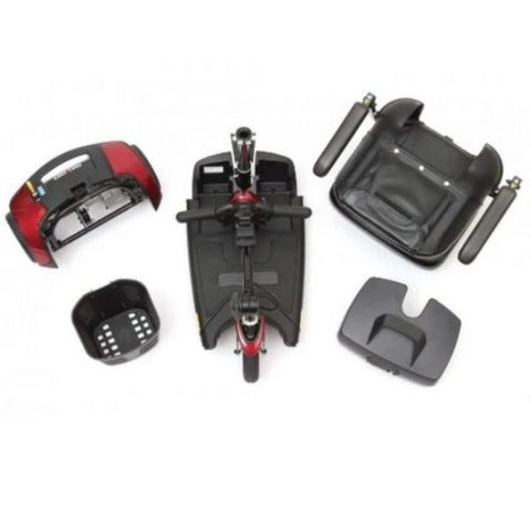 Pride Go-Go Elite Traveller 3 Wheel Scooter Disassembled View