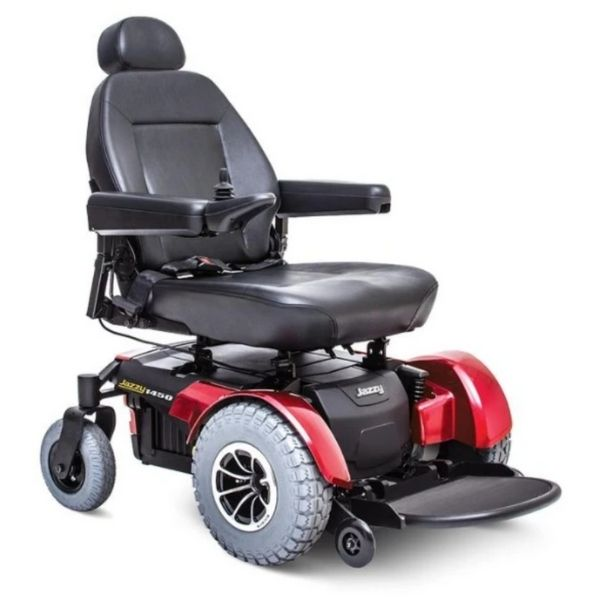Pride Jazzy 1450 Power Chair Red