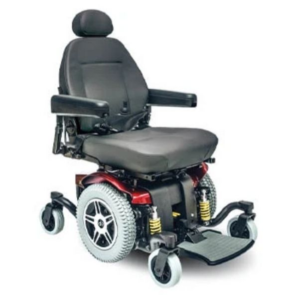 Pride Jazzy 614 HD Red Power Wheelchair