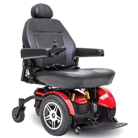 Pride Jazzy Elite 14 Front Wheel Drive Power Chair Red Front View
