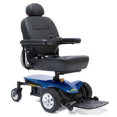 Pride Jazzy Elite ES Blue Power Wheelchair Right Side
