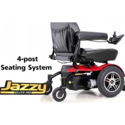Pride Jazzy Elite HD Power Wheelchair 4 Post Seating System