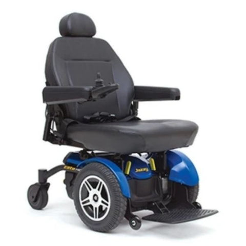 Pride Jazzy Elite HD Power Wheelchair Blue Front View
