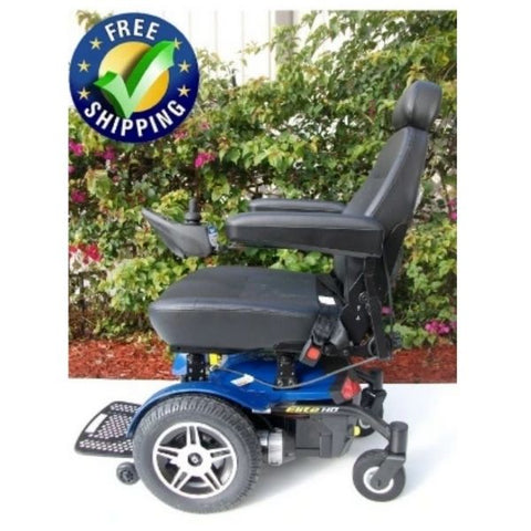 Pride Jazzy Elite HD Power Wheelchair Blue Side View