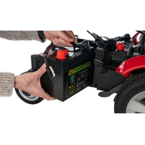 Pride Jazzy Select Mid-Size Power Chair Remove Batteries