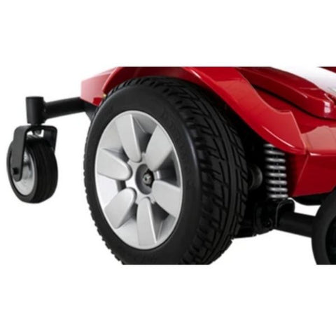 Pride Jazzy Select Mid-Size Red Power Wheelchair Front Wheels