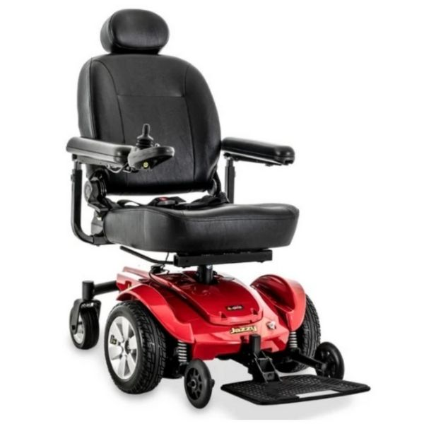 Pride Jazzy Select Mid-Size Red Power Wheelchair