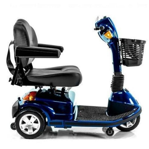 Pride Maxima 3 Wheel Scooter Blue Side View