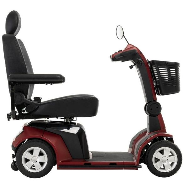 Pride Maxima Heavy Duty 4-Wheel Scooter Red Side View