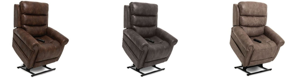 Pride Mobility Viva Lift Tranquil Infinite-Position Lift Chair PLR-935 Three Fabric Options View
