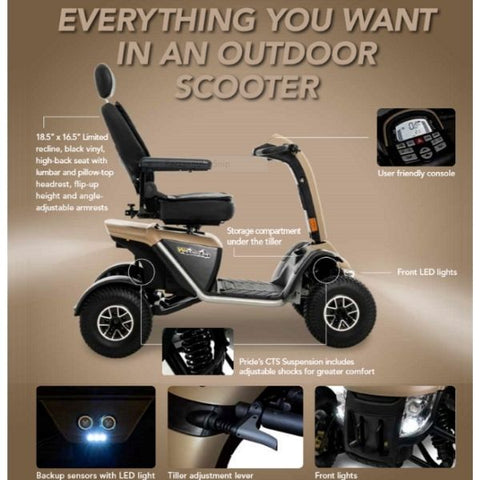 Pride Mobility Wrangler Heavy Duty Scooter Features