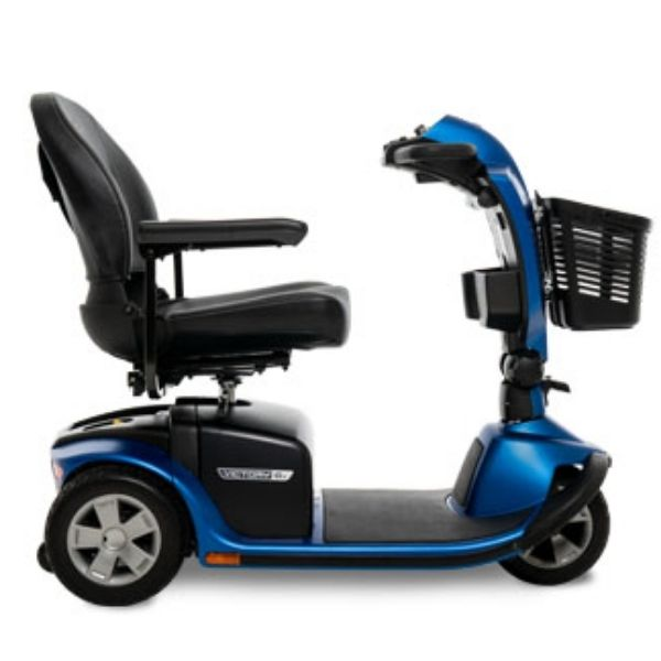 Pride Victory 10.2 Mid-Size Bariatric 3-Wheel Scooter Side View