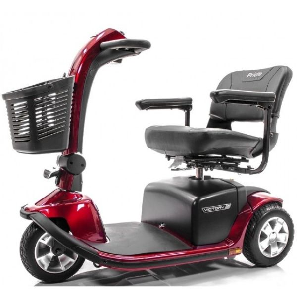 Pride Victory 10 3-Wheel Scooter SC610 Red Side View