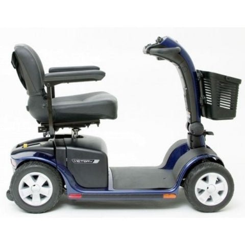 Pride Victory 10 4-Wheel Power Scooter SC710 Blue Side View