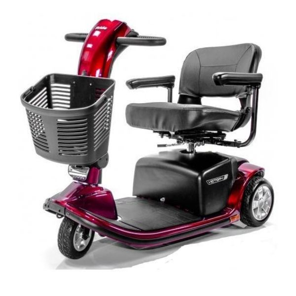 Pride Victory 9 3-Wheel Scooter Red Front Side View