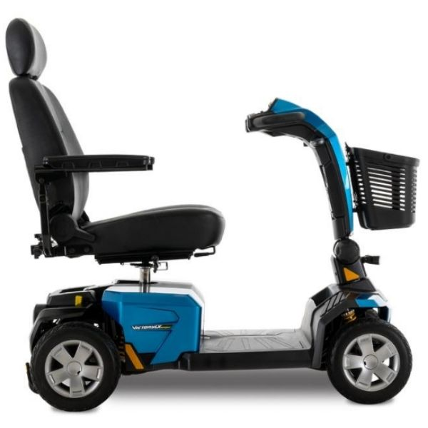 Pride Victory LX Sport 4-Wheel Scooter Blue Side View