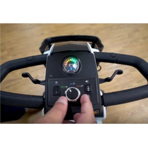 Pride ZT10 4-Wheel Mobility Scooter Controls View