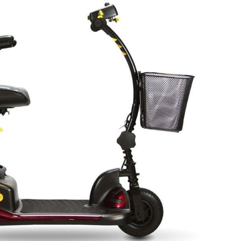Shoprider Dasher 3 Portable 3-Wheel Scooter Curved Tiller View