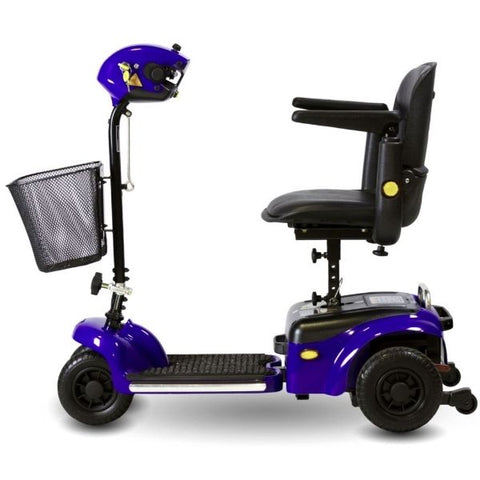 Shoprider Scootie 4-Wheel Mobility Scooter TE-787NA Blue Side View