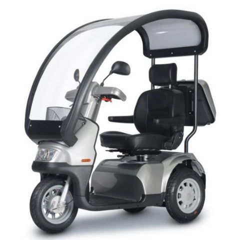 AFIKIM Afiscooter S 3 Wheel Scooter Front View With Canopy
