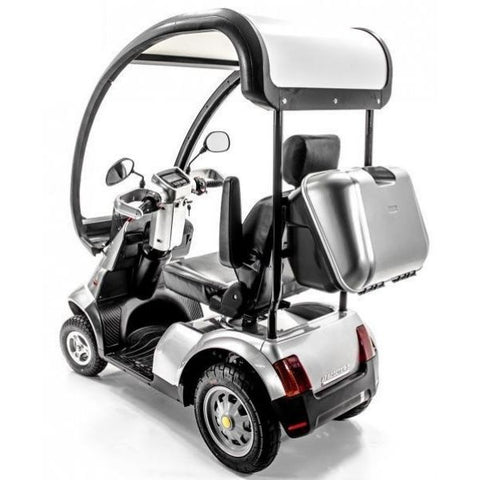AFIKIM Afiscooter S 4-Wheel Scooter Back View with Canopy