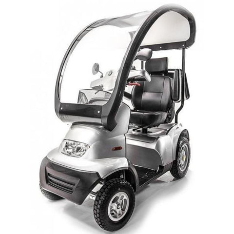 AFIKIM Afiscooter S 4- Wheel Front View with Canopy