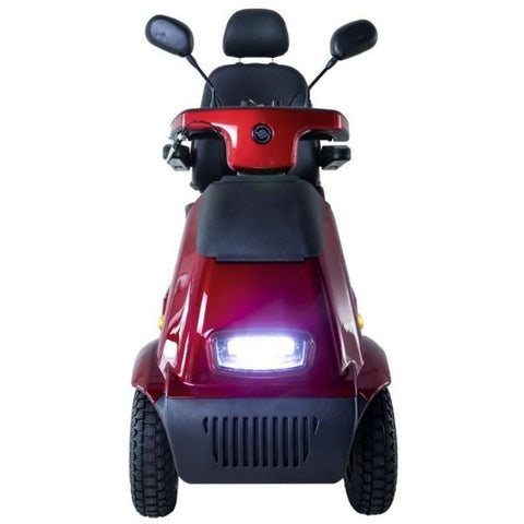 AFIKIM Afiscooter C4 Breeze 4-Wheel Scooter Red Front View