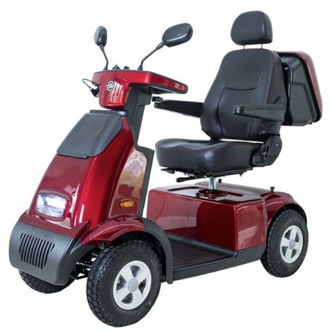 AFIKIM Afiscooter C4 Breeze 4-Wheel Scooter Red Side View