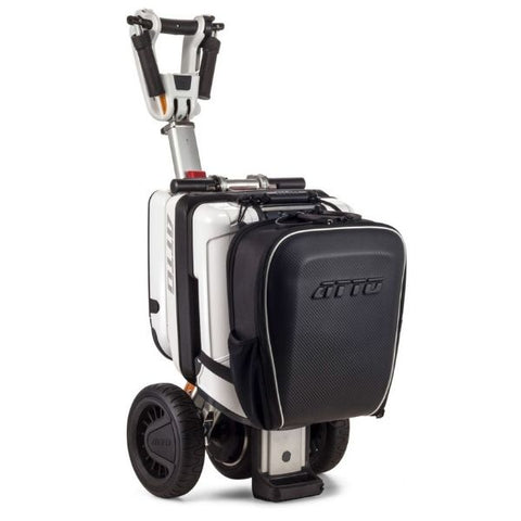 ATTO Backpack on Folded Scooter