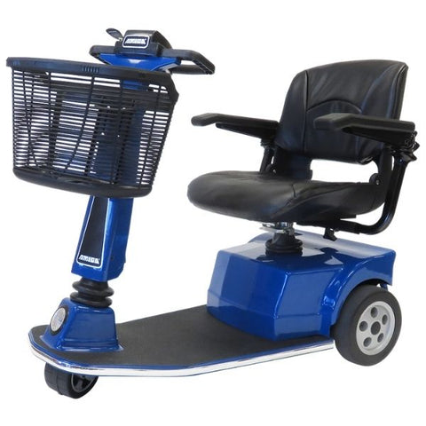 Amigo RT Express 3-Wheel Mobility Scooter Blue Left Side View