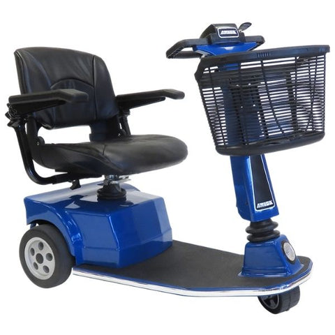 Amigo RT Express 3 Wheel Mobility Scooter Blue Right Side View