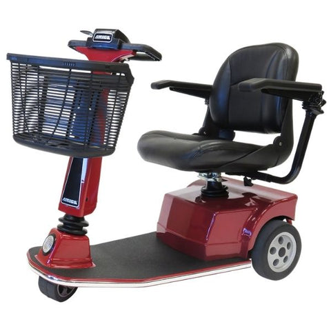 Amigo RT Express 3 Wheel Mobility Scooter Red Left Side View