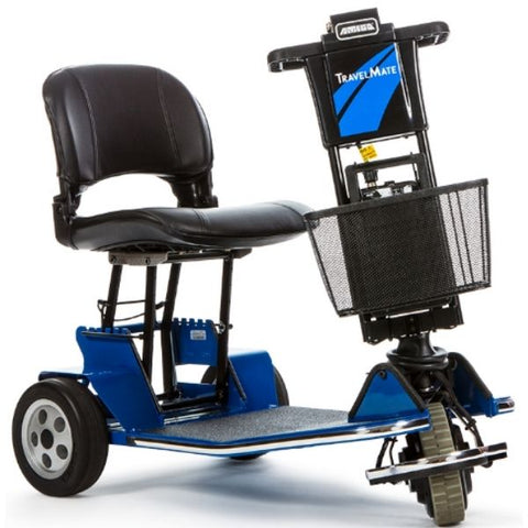 Amigo TravelMate Foldable Mobility Scooter Blue Front View