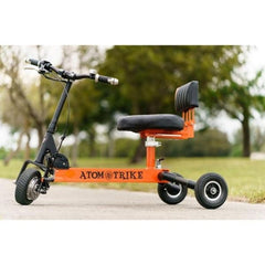 Atom Trike Electric 3 Wheel Folding Scooter Left Side View