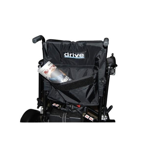 Drive Medical Cirrus Plus EC Folding Power Wheelchair Carry Pocket View