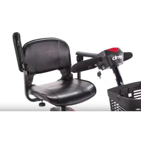 Drive Medical Scout 3 Wheel Scooter Armrest and Tiller View