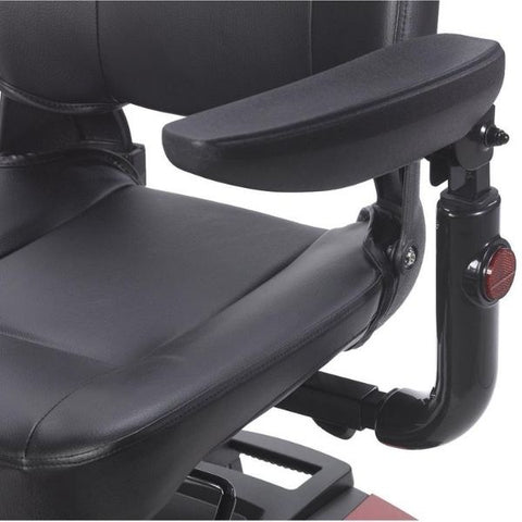Drive Medical Spitfire DST 4 Wheel Scooter Armrest View