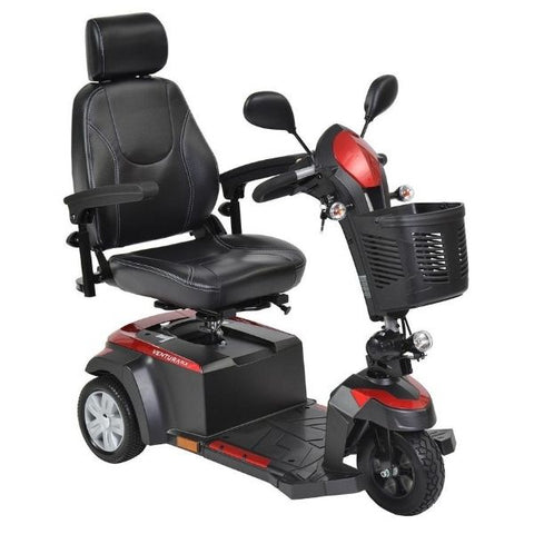 Drive Medical Ventura DLX 3 Wheel Scooter Front View