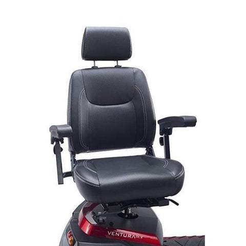 Drive Medical Ventura DLX 4 Wheel Scooter Seat View