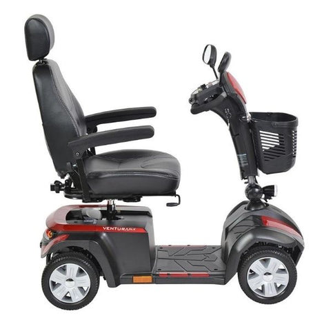 Drive Medical Ventura DLX 4 Wheel Scooter Side View